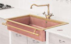fregadero cobre rosa restart