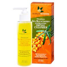 Sea Buckthorn Facial Cleanser cleans skin gently, yet effectively, without stripping the skin of its natural oils. It exfoliates to remove dirt and impurities, while hydrating skin for a smooth, clear complexion. Unlike many other facial cleansers, SeabuckWonders Facial Cleanser is ideal for all skin types that will benefit from its remarkable nutritional properties, leaving skin feeling clean, balanced, and beautiful.