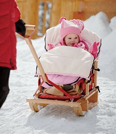 Keeps Little Peanuts Warm In Winter Snow Bunting Sled