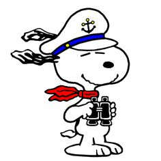 Snoopy the World Famous Cruise Liner Captain. Peanuts Cartoon, Peanuts Snoopy, Peanuts Characters, Cartoon Characters, Charlie Brown Und Snoopy, Beagle, Snoopy Images, Pochacco, Snoopy Quotes