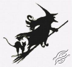 Cross Stitch - Halloween witch free pattern