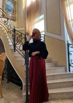 Cute Modest Outfits, Modest Wear, Girl Outfits, Fashion Outfits, Modern Hijab Fashion, Muslim Fashion, Niqab, Ash Blonde Balayage, Muslim Girls