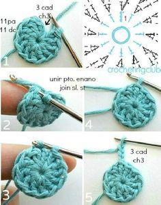 Best 11 Knitted Bags Knitting Patterns Step Stools Tulips Strands Dish Towels Mesh Farmhouse Rugs Make Up – SkillOfKing. Crochet Circles, Crochet Round, Knit Or Crochet, Double Crochet, Crochet Stitches, Diy Crafts Knitting, Diy Crafts Crochet, Crochet Projects, Crochet Basket Pattern