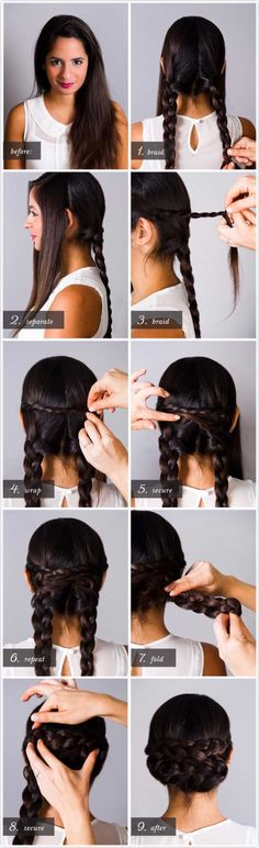 Best Hairstyles for Brides - BRAIDED CHIGNON- Amazing Hair Styles and Looks for Half Up Medium Styles, Updo With Long Hair, Short Curls, Vintage Looks with Veil, Headpieces, or With Tiara - Wedding Looks for Girls With Round Faces - Awesome Simple Bridal Style With Headband or Elegant Braided Up Dos - thegoddess.com/hairstyles-for-brides