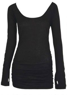 Scoop Neck Thumbhole Tee