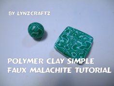 Polymer Clay Faux Malachite tutorial