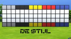 De Stijl Wall Panels Blocks (Top and Bottom) #10 for #TheSims4  http://www.simsnetwork.com/downloads/the-sims-4/build/de-stijl-wall-panels-blocks-top-and-bottom-10