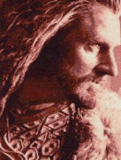 Thorin Oakenshield - Cross Stitch by shingorengeki... There are no words for how truly incredible this is. I want it.