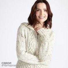 Free Intermediate Knit Hooded Cardigan Pattern