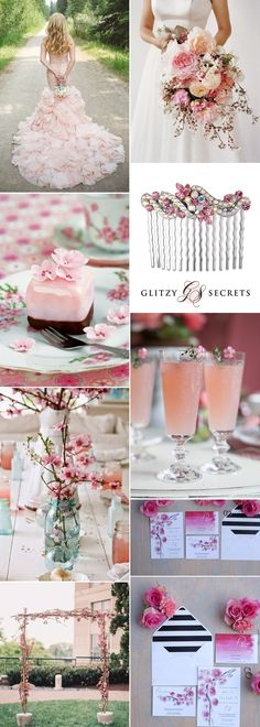 pretty cherry blossom wedding inspiration