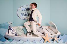 good idea for wedding photo booth. Backdrop Design, Photo Booth Backdrop, Photo Props, Photo Booths, Nautical Party, Nautical Wedding, Wedding Photo Booth, Wedding Photos, Wedding Ideas