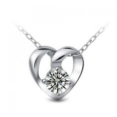 5.41$  Buy now - http://dioi7.justgood.pw/go.php?t=172201601 - Heart Rhinestone Wedding Necklace Jewelry 5.41$