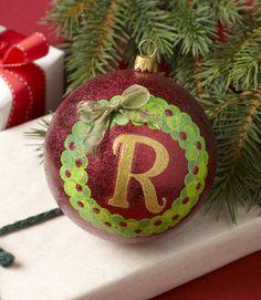 Como hacer un adorno de navidad pernalizado
