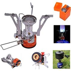 Introducing Backpacking Camping StovesSam Young Portable Outdoor Cookware Cooking Tool Piezo Ignition Canister Stove for Propane Canister Stove. Great product and follow us for more updates!