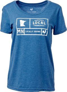 85c83d91480d1 Locally Grown Women s Minnesota Support Grid T-Shirt