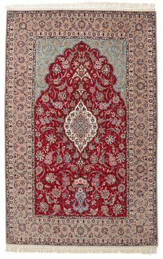 Isfahan silkkiloimi-matto 206x318