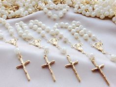 25 pcs Pearl Gold First communion favors by AVAandCOMPANY on Etsy, $17.99