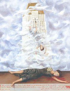 Frida Kahlo artwork. The suicide of Dorothy Hale.