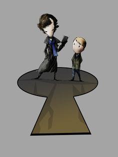 New Sherlocked tee design by MJ Hiblen Comic Book Heroes, Comic Books, Sociopath, Fantasy Illustration, Baker Street, Tee Design, Mj, Sherlock, Pop Culture