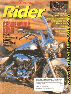 2003 Harley-Davidson Road King Classic FLHRCI rider test Maybe should be called King of the Road?