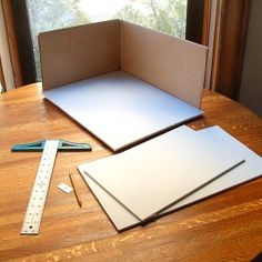 creating a white background inside a cardboard box- good to know for photography stuff