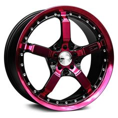 "HD® - COOL DOWN Gloss Black with Pink Face and Lip (18"" x 7.5"", +42 Offset, 4x114.3 Bolt Pattern, 73.1mm Hub). HD CD18750142BK-P"