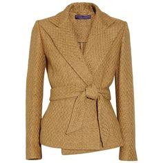 Ralph Lauren Collection Eldridge basketweave cotton-blend jacket ❤ liked on Polyvore