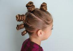 Resultat d'imatges de crazy hair little buns