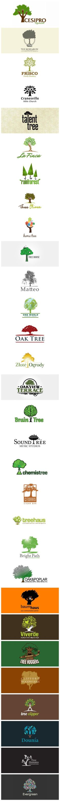Tree Logos.   Very cool collection that could appear on #packaging. PD