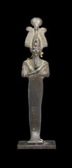 Silver statuette of Osiris. New Kingdom. 18th dynasty. 1550–1295 B.C. | Museum…