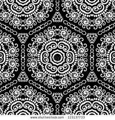 flower pattern black and white - Google Search