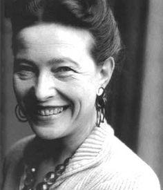 Simone de Beauvoir 1908-1986  İkinci nesil feminizm dalgasini başlatan varoluşçu Fransız yazar.