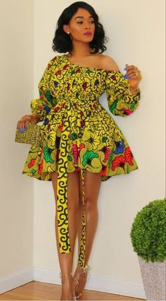 Short African Dresses, Latest African Fashion Dresses, African Print Dresses, African Print Fashion, Short Dresses, African Prints, Africa Fashion, Latest Ankara Short Gown, Casual Dresses