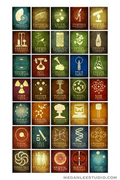 CHRONOLOGICAL 12x18 Science Poster 35 Designs in One by meganlee