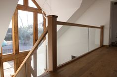 View our popular staircase gallery with traditional oak stairs and steps Glass Stair Balustrade, Painted Stair Railings, Stair Paneling, Stair Banister, Glass Railing, Banisters, Narrow Staircase, Timber Staircase, New Staircase
