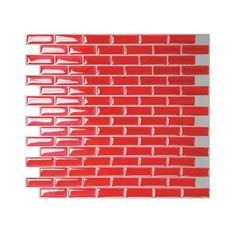 Smart Tiles 9-1/8 in. x 10-1/2 in. Peel and Stick Red Murano Cosmo Mosaic Decorative Wall Tile-1031 at The Home Depot