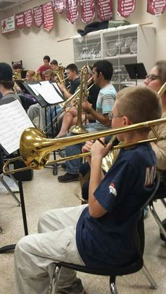 David playing his trombone. He is really good!!! Like his daddy