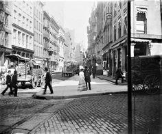1891 . NYC Street Scene Maiden Lane .NYHS