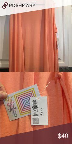 L LLR Joy Long, lightweight, knit, Peach Joy. Perfect for spring and summer. BNWT LuLaRoe Sweaters Cardigans