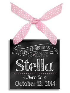 Baby's First Christmas Chalkboard Ornament