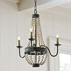 Lucie 3-Light Chandelier traditional-chandeliers
