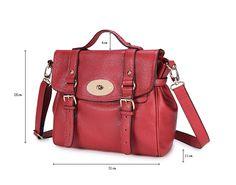 Alexa leather bag. Borsa Alexa messenger in pelle di DUDU con maniglia e tracolla - Dudubags shop online - €144 (Sale! fino al 17/2/2013 in saldo a €72)