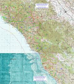 Interactive & Printable Big Sur Trail Maps Los Padres National Forest, Trail Maps, Big Sur, Places To Go, Printing, California, History, Printable, Camping