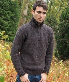 YUNY Men Ribbed Soft Knit Fitted Fall Pure Colour Sweater Pullover Grey M