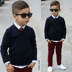 Little worker, navy knit, maroon pants and white shoes Toddler Boy Fashion, Little Boy Fashion, Toddler Boy Outfits, Toddler Boys, Teen Boys, Maroon Pants, Outfits Niños, Little Boy Outfits, Stylish Boys