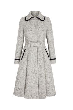Honest coat tweed Coat Wool and Silk Tweed - Suzannah