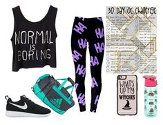 """""""~Pierce's Exercise Clothes(Day 21)~"""" by twentyonepliots-389 ❤ liked on Polyvore featuring Pusheen, adidas, Casetify and NIKE"""