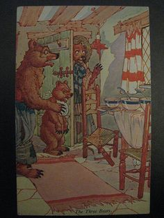 The Three Bears - An Art Nouveau Postcard Illustrated by Charles Folkard (1930) | by raaen99