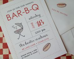 Fire Up the Grill - BBQ Invitations. $22.50, via Etsy.
