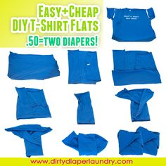 In the spirit of budget cloth diapering this month I wanted to pass on this great tutorial inspired by a reader (Kelly S.) who posted to my fanpage. Ive seen other t-shirt diapers but, being a lover of flats, I really loved the idea of cutting a